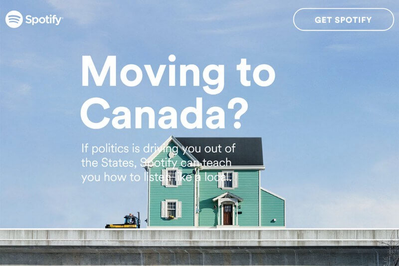 Spotify moving to canada